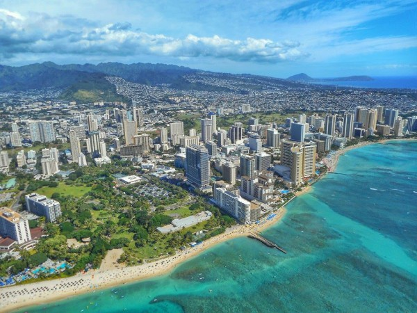 Honolulu from the sky